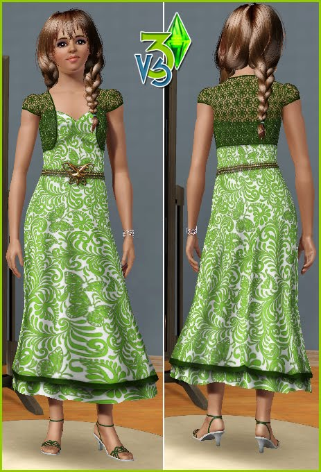 New Dresses for Adult Females by Vita Sims. Download at Vita Sims