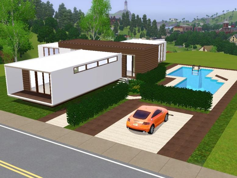 My Sims 3 Blog Estrela Modern Lout By Sims 3 Modern Houses