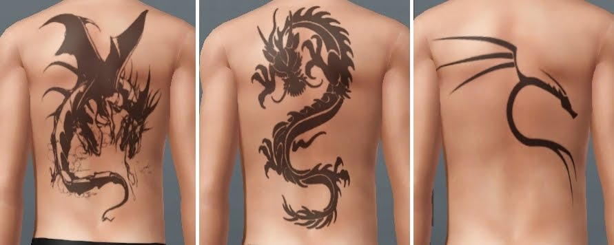My Sims 3 Blog: Tattoo MEGAPACK - 18 tattoos by des-demmonia