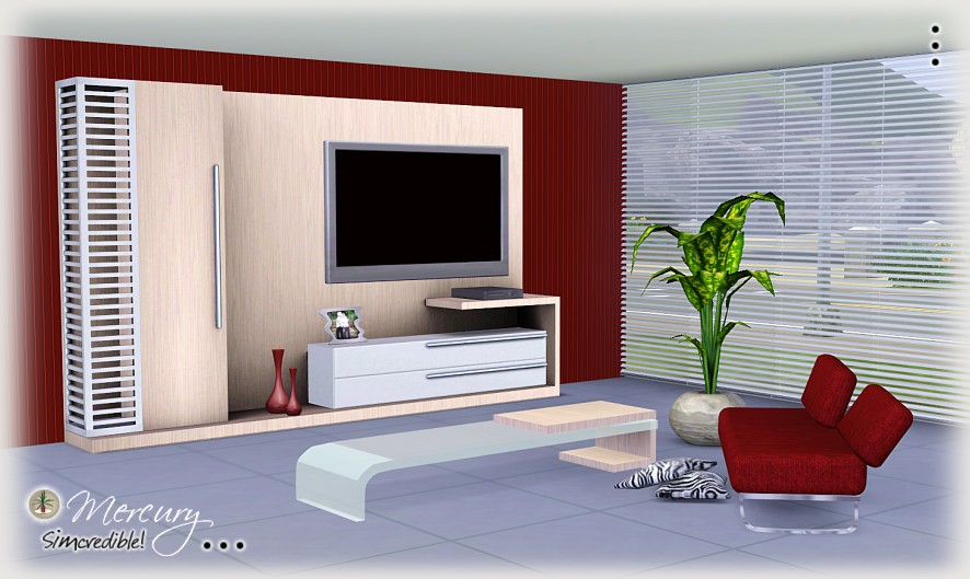 My sims 3 blog mercury living room set by simcredible designs for Sims 3 living room ideas