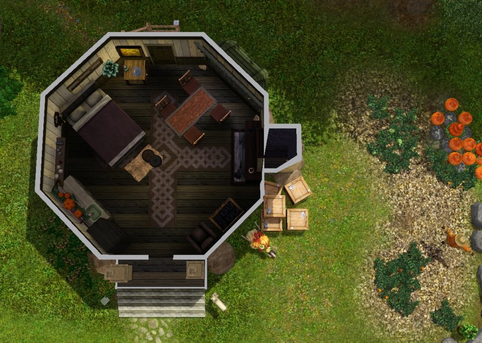 My Sims 3 Blog Hagrid S Hut By Vera J: what house was hagrid in