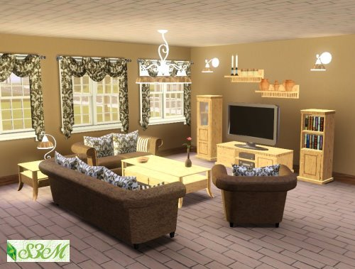 My sims 3 blog isny living room set by simmami for Living room ideas sims 3