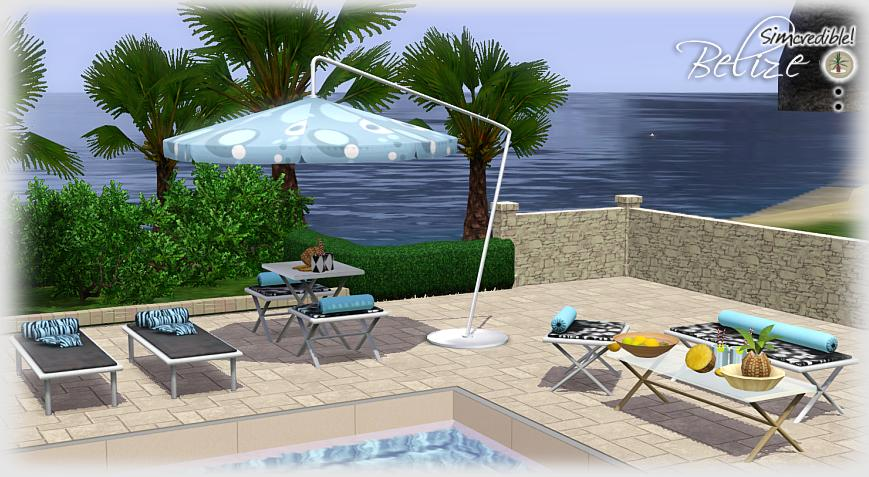 My Sims 3 Blog  Belize Outdoor Set by Simcredible Des