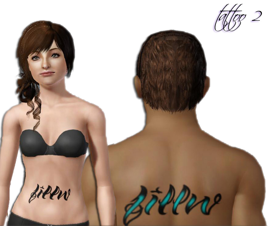 My Sims 3 Blog: 5 Simlish Name Tattoos by daluved1