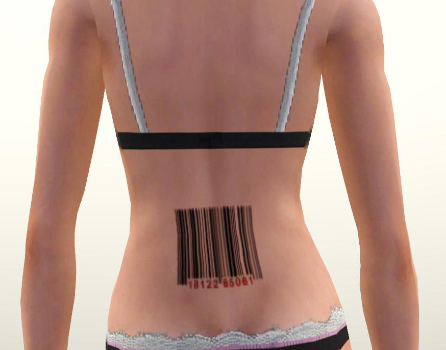 Barcode Tattoo by daluved1. Download at The Sim Supply. Labels: Tattoos