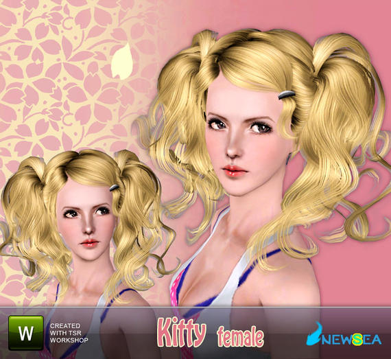 Newsea Kitty Female Hairstyle. Download at The Sims Resource - Subscriber