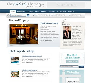 The Bel Air (Multi Agent)Real Estate Theme for WordPress