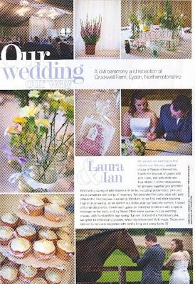 ian laura wedding flowers magazine feature