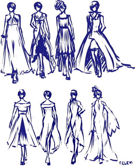 Rough Fashion Sketches Fashion Sketches
