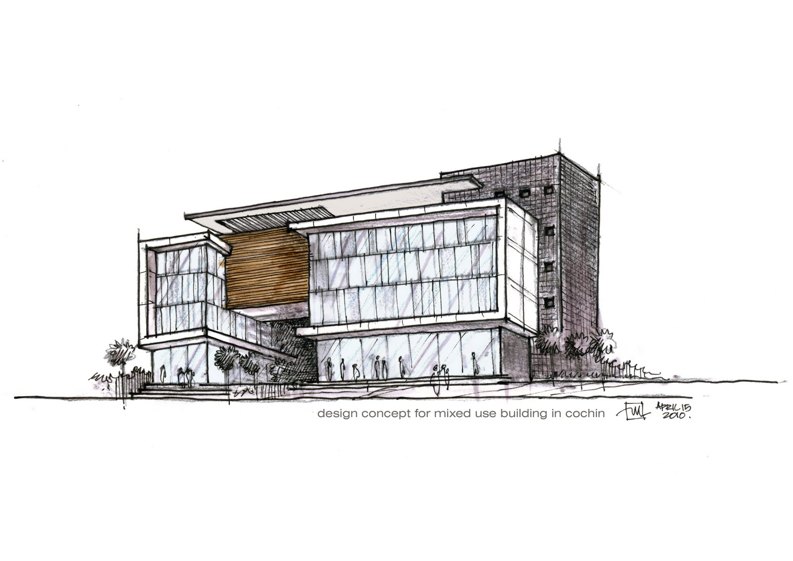 Mixed Use Building Design Concept1 Atelier2