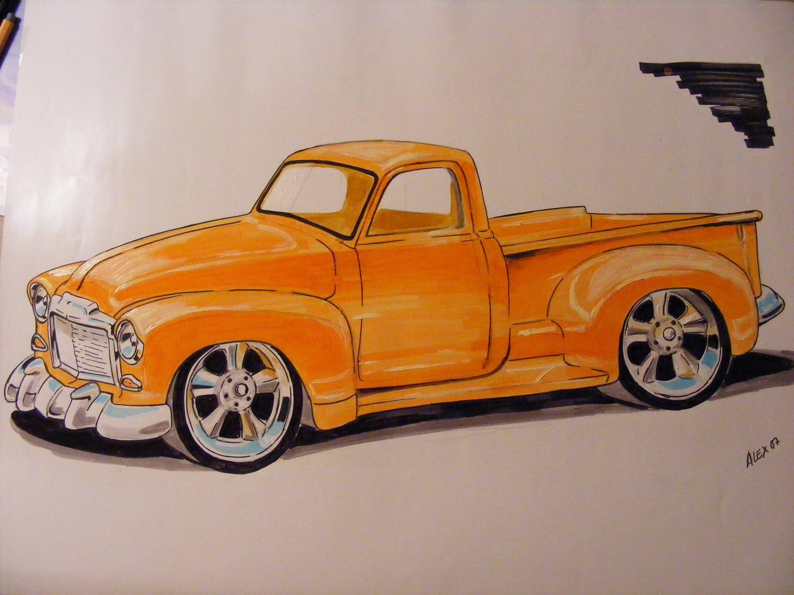 Dibujos de carros clasicos - Imagui