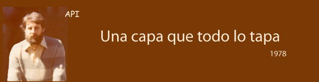 Una capa que todo lo tapa  -  A layer that everything tapa