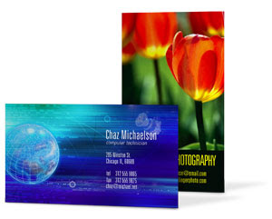 GotPrint vertical business card and horizontal business card