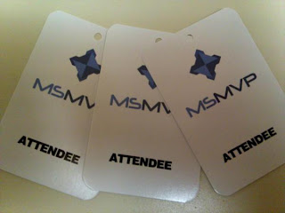 MSMVP attendee hang tags printed by GotPrint