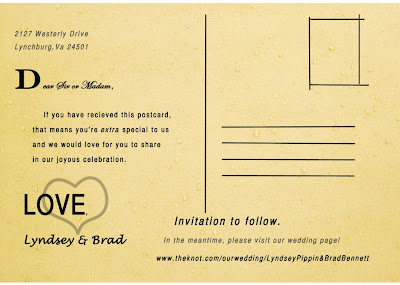 Back of Save the Date postcard wedding invitation, printed by GotPrint