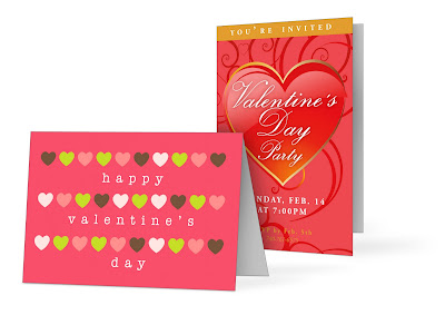 GotPrint Valentine's Day greeting card example with hearts