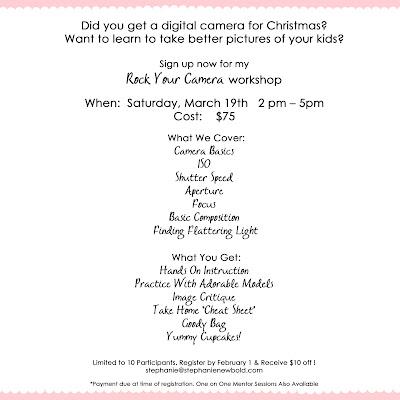Photography Workshop Flyer