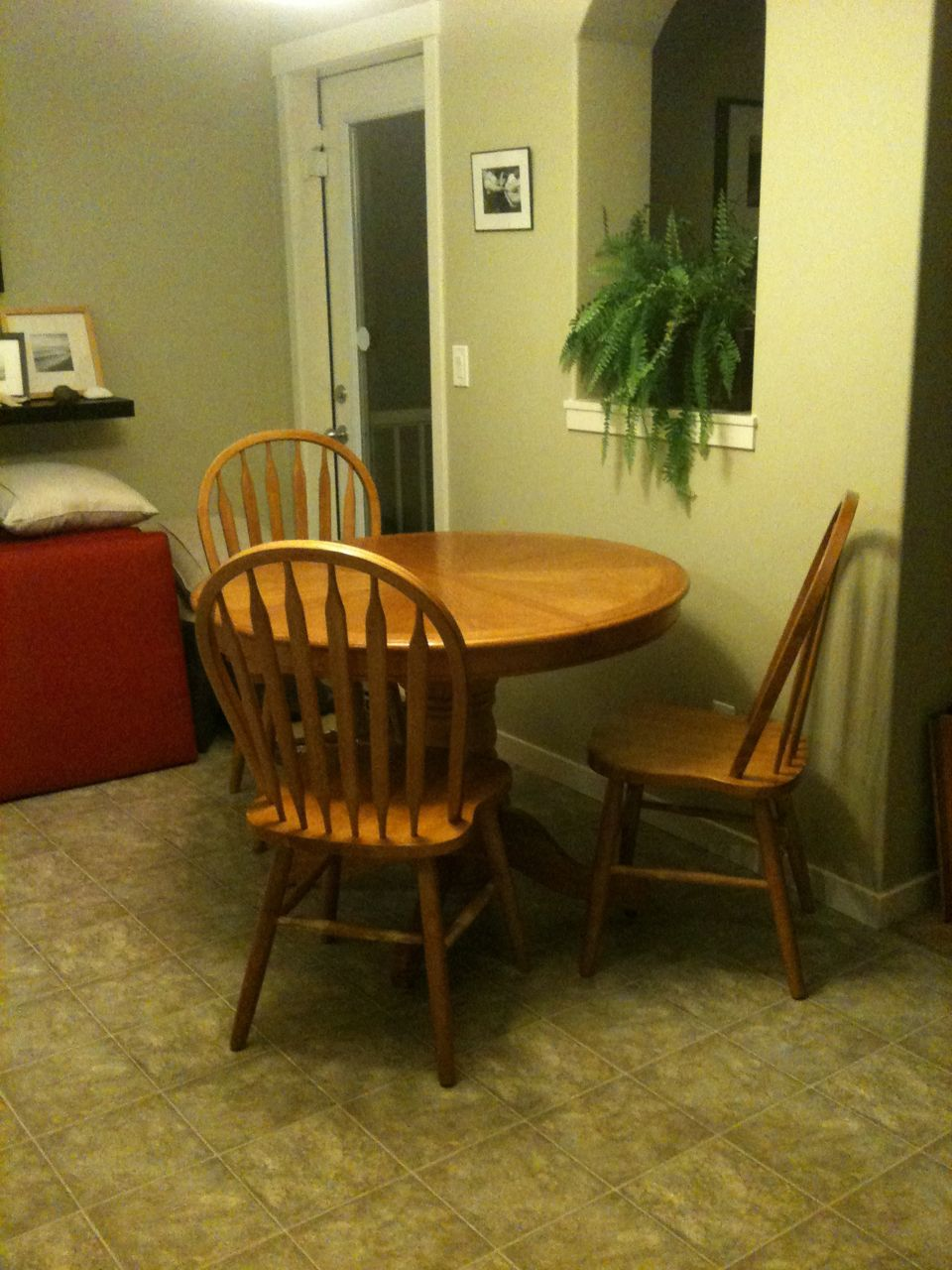Refinished table and chairs feathering my nest - Refinished kitchen table ...