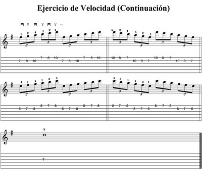 Clases de Guitarra: Coordinacion y velocidad 2