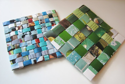 Recycled Magazine Coasters How About Orange - Coasters made from photos