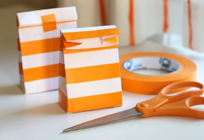 make bags from envelopes and pretty tape