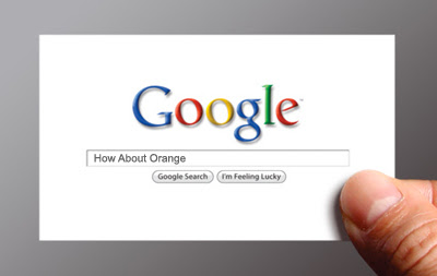 Google me business card freebie how about orange does your name appear at the top of google search results need a quick business card get this template from ji lee and add your own words to the search friedricerecipe Image collections