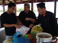 Chairman of Kampung sungai Teraban (right)