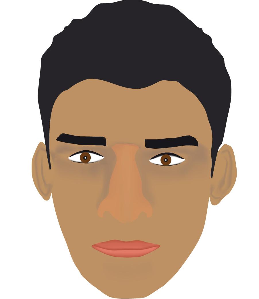 esta cara fue hecha en illustrator