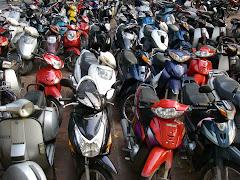 Parking lot in Hanoi