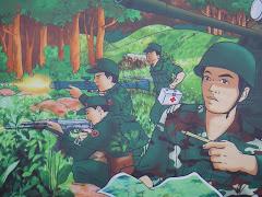 Patriotic billboard in Pakse, Laos