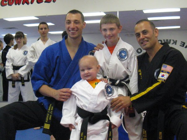 Owen gets his honorary Black Belt