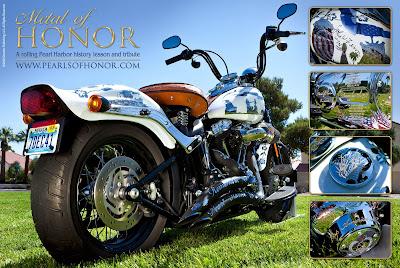 metal of honor motorcycle poster World War II pearl harbor tribute