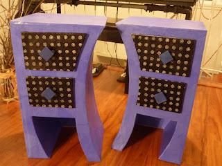 meubles-tables-de-chevet-en-carton-bleu