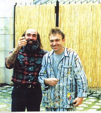En el estudio de Barcelo  en Paris. 1994