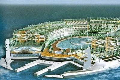 A-Z isla flotante Jean-Philippe Zoppini floating island