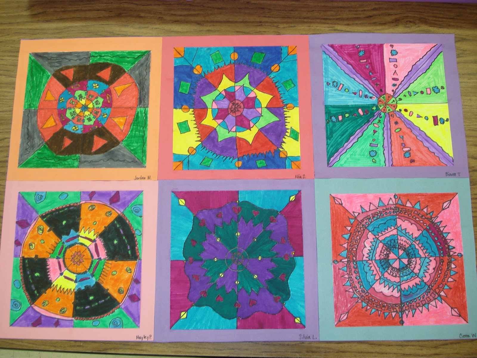 We heart art radial balance 4th grade for 4th grade craft projects