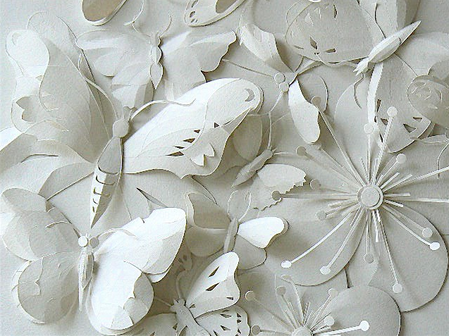 The science of design for White paper butterflies