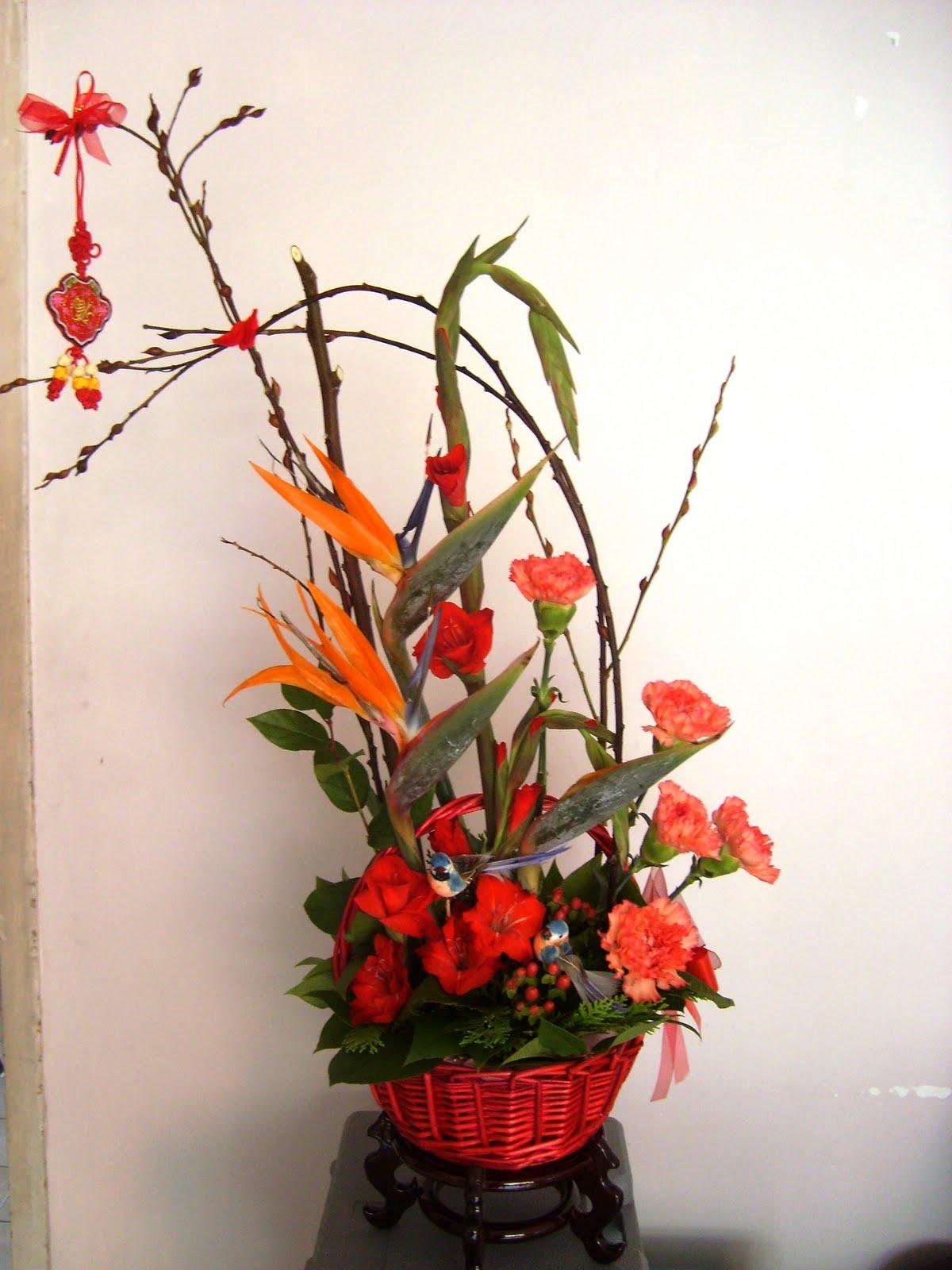 chinese flower arrangement -#main