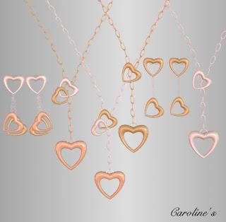 Caroline's Hearts Necklace