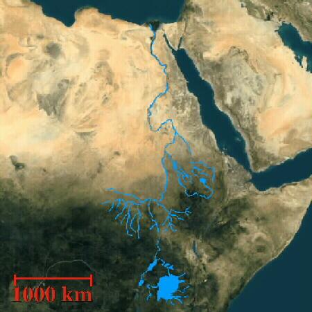 خريطة حوض النيل