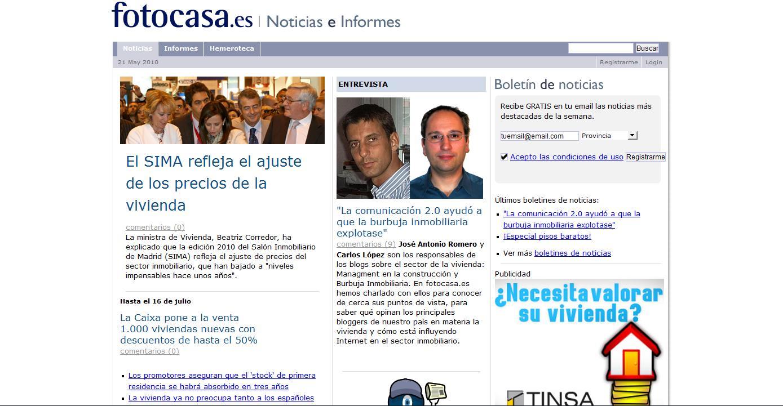 Entrevista en el portal inmobiliario fotocasa el blog for El portal inmobiliaria