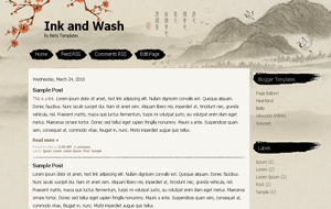 Ink and Wash Beautiful Blogspot Template