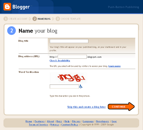 How to Create Your First Blogger Blog