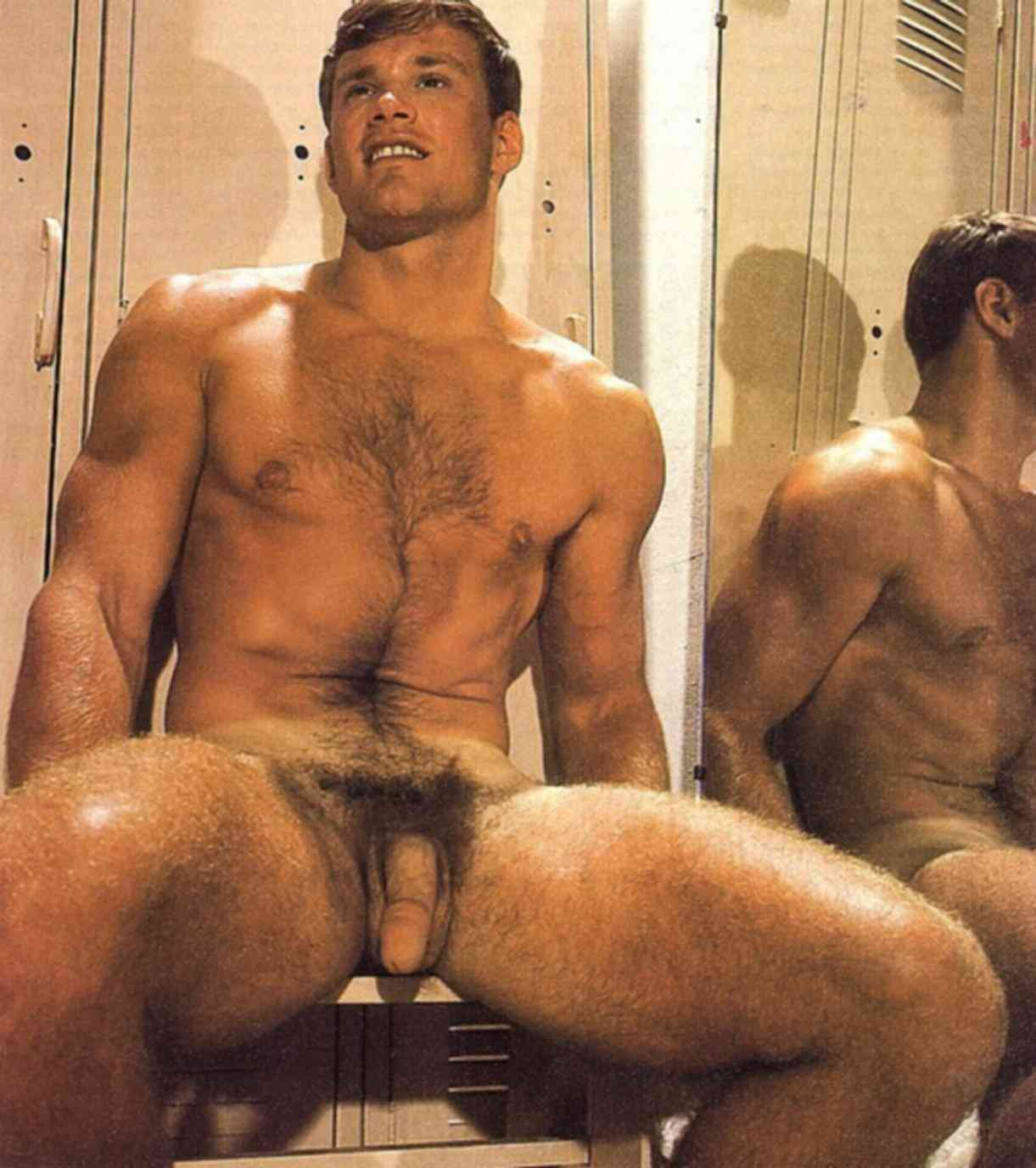 Models shower male nude