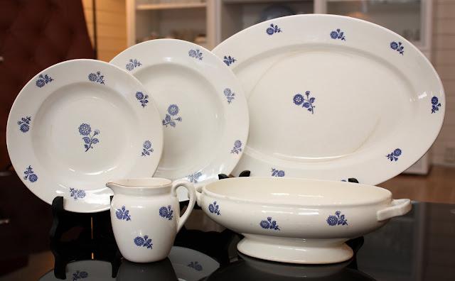 Egersund servise blå blomst