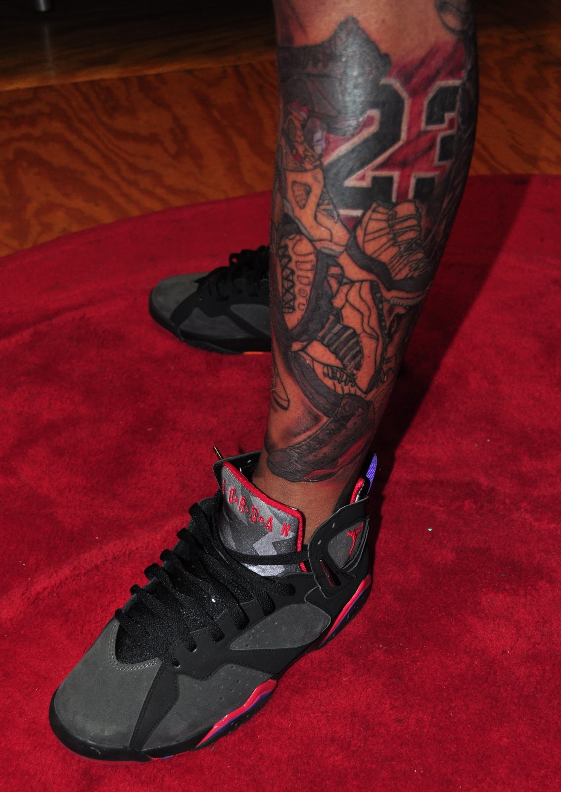 vintage jordan shoes with 23 number tattoo 762790