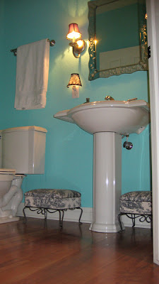 tiffany blue powder room