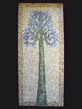 mosaic tree, wallhanging