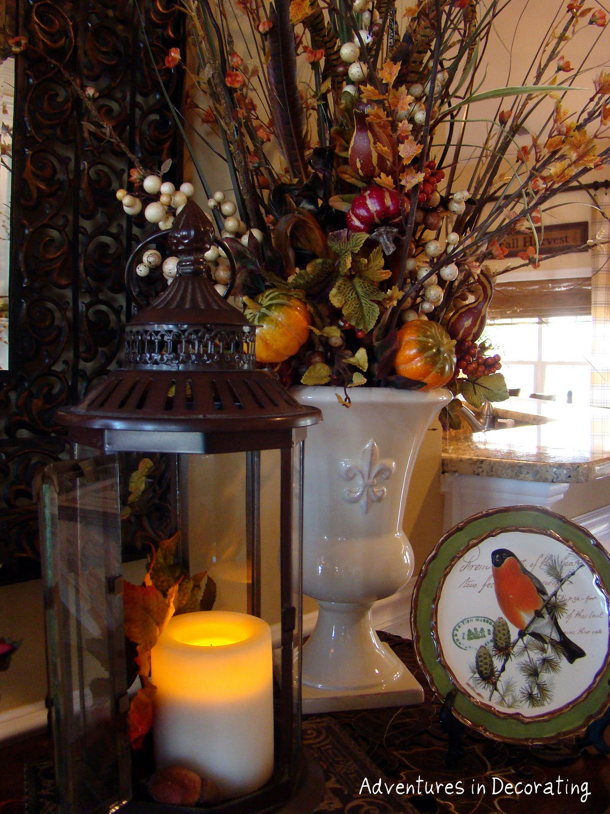 Adventures in decorating fall buffet for Home goods fall decorations