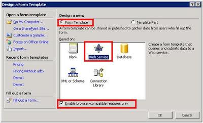 Web service based Infopath form   jQuery, ASP.NET, C#, MVC, Ajax ...